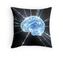 Brain Glow Energy Throw Pillow