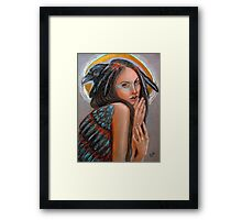 Crow Woman Framed Print
