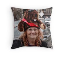 Punxsy Phil Predicts an Early Spring!!! Throw Pillow