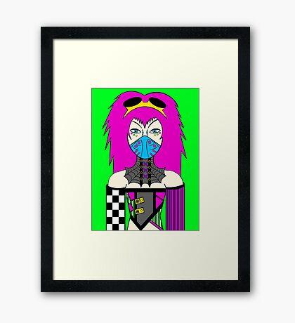 Cyber Goth Framed Print