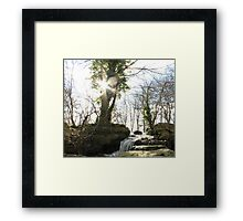 Rushing waterfall Framed Print