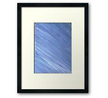 BLUE CALMNESS ON CANVAS Framed Print