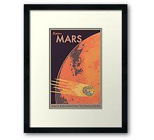 Explore Mars Travel Poster Framed Print