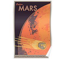 Explore Mars Travel Poster Poster