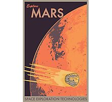 Explore Mars Travel Poster Photographic Print