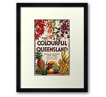 Vintage poster - Queensland Framed Print