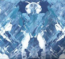 BLUE DANCER MANDALA by karen66