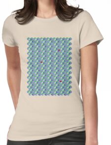 3D Geometric patterns - Colorful cube pattern Womens Fitted T-Shirt