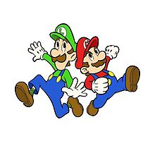 Mario and Luigi From SuperStar With =-=Signiture=-= by TheXDrawer