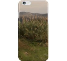 Countrysite Green in Winter oil paint iPhone Case/Skin