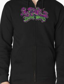 Poison Types - Sludge Waves Zipped Hoodie