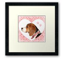 Valentine Pup Framed Print