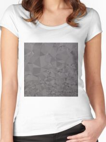 Trolley Grey Abstract Low Polygon Background Women's Fitted Scoop T-Shirt