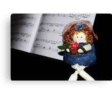 Knot-knee Dolly Canvas Print
