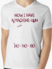Die Hard: Now I have a machine gun Ho Ho Ho Mens V-Neck T-Shirt