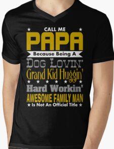 Call Me Papa Design Mens V-Neck T-Shirt