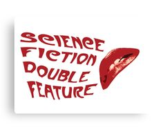 Science Fiction Double Feature Canvas Print