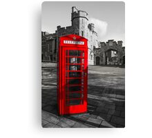 Windsor Castle Red Telephone Box Canvas Print