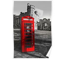 Windsor Castle Red Telephone Box Poster