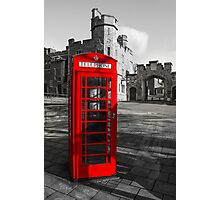 Windsor Castle Red Telephone Box Photographic Print