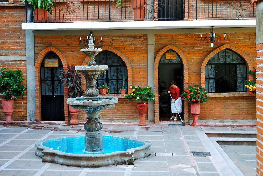 Church square. Mexico by richard  webb