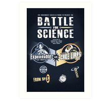 Battle for Science - V2 Art Print