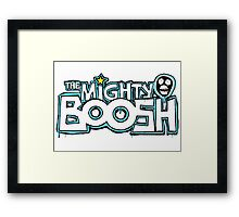The Mighty Boosh – Dripping Blue Writing & Mask Framed Print