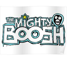 The Mighty Boosh – Dripping Blue Writing & Mask Poster