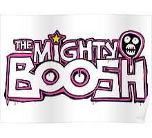 The Mighty Boosh – Dripping Pink Writing & Mask Poster