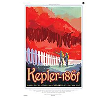 Space Travel Poster - Kepler-186f Photographic Print