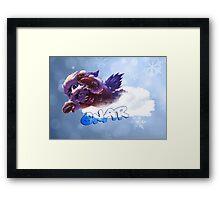 Snow Day Gnar League of Legends Framed Print