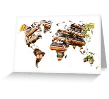 Map of the world architecture Greeting Card