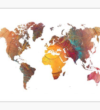 World Map fractal 1 Sticker