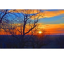 Sunset Orange-Blue Photographic Print
