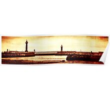 Whitby Lighthouses Poster