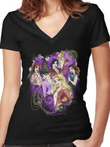 Once Upon a Princess Women's Fitted V-Neck T-Shirt