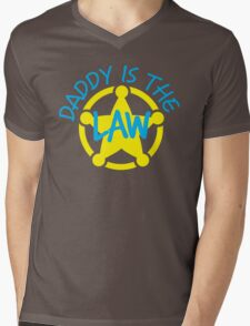 DADDY is the LAW with sheriff badge Mens V-Neck T-Shirt
