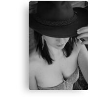 Hat and corset  Canvas Print