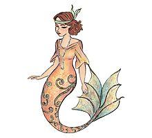 Flapper Mermaid Photographic Print