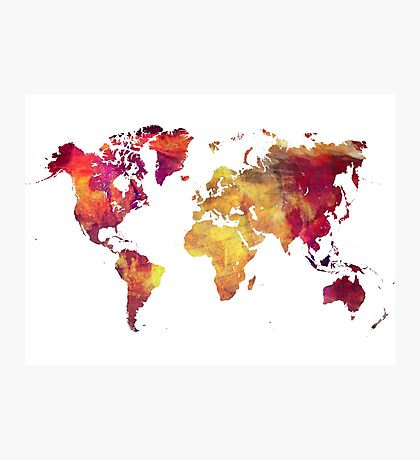 Map of  the world after nuclear war Photographic Print