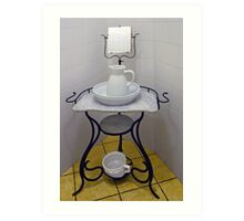 Wash-stand from the fifties Art Print
