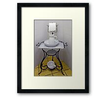 Wash-stand from the fifties Framed Print