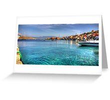 The Bay at Nimborio Greeting Card