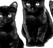 black cat flag Sticker
