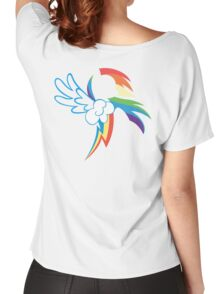 The Dash mark - WHITE Women's Relaxed Fit T-Shirt