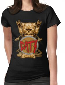 slayer cat Womens Fitted T-Shirt