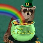 St Patrick's Day Raccoon by jkartlife
