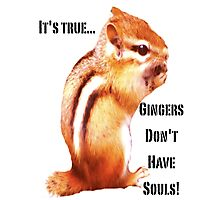 It's True...Gingers Don't Have Souls! Photographic Print