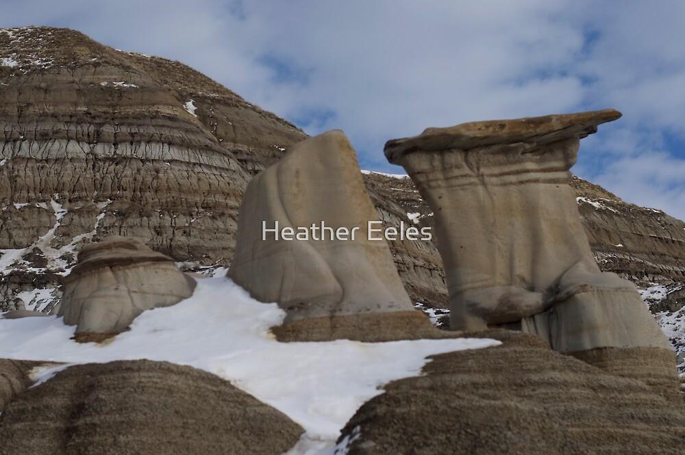 Winter Hoodoos by Heather Eeles