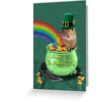 St Patrick's Day Squirrel Greeting Card
